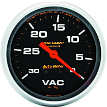 Autometer 5484 Vacuum Gauge - Mechanical, Universal