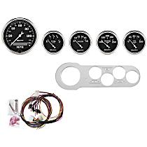 Autometer 7042-OTB Gauge Set - Mechanical, Speedometer; Oil Pressure Gauge; Water Temperature Gauge; Voltage Gauge; Fuel Level Gauge, Direct Fit, Set of 5