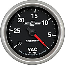 Autometer 7684 Vacuum Gauge - Mechanical, Universal