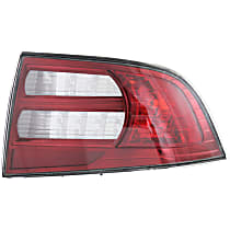 Passenger Side Tail Light, Without bulb(s) - Clear & Red Lens, Base Model