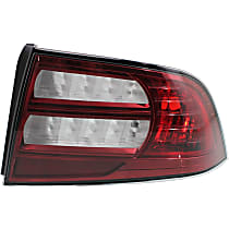 Passenger Side Tail Light, Without bulb(s) - Clear & Red Lens, Base Model, CAPA CERTIFIED