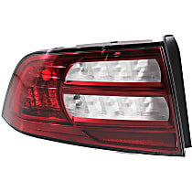 Driver Side Tail Light, Without bulb(s) - Clear & Red Lens, Base Model, CAPA CERTIFIED