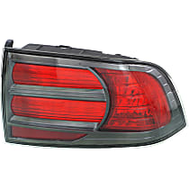 Passenger Side Tail Light, Without bulb(s) - Red Lens, Type S Model