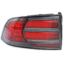 Driver Side Tail Light, Without bulb(s) - Red Lens, Type S Model