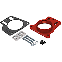 Airaid 200-512-1 Throttle Body Spacer - Anodized Red, Aluminum, Direct Fit, Sold individually