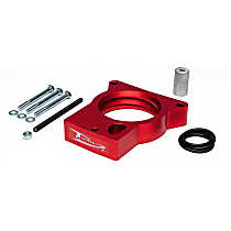 Airaid 200-520 Throttle Body Spacer - Anodized Red, Aluminum, Direct Fit, Sold individually