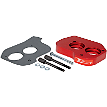 Airaid 200-550 Throttle Body Spacer - Anodized Red, Aluminum, Direct Fit, Sold individually