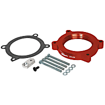 Airaid 200-606 Throttle Body Spacer - Anodized Red, Aluminum, Direct Fit, Sold individually