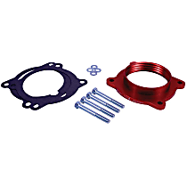 200-630-1 Throttle Body Spacer - Anodized Red, Aluminum, Direct Fit, Sold individually