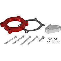 Airaid 200-639 Throttle Body Spacer - Anodized Red, Aluminum, Direct Fit, Sold individually