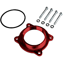 Airaid 250-609 Throttle Body Spacer - Anodized Red, Aluminum, Direct Fit, Sold individually