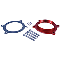 Airaid 250-634 Throttle Body Spacer - Anodized Red, Aluminum, Direct Fit, Sold individually