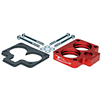 Airaid 300-560 Throttle Body Spacer - Anodized Red, Aluminum, Direct Fit, Sold individually
