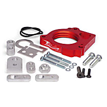 Airaid 300-573 Throttle Body Spacer - Anodized Red, Aluminum, Direct Fit, Sold individually