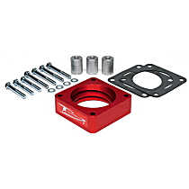 Airaid 310-510 Throttle Body Spacer - Anodized Red, Aluminum, Direct Fit, Sold individually