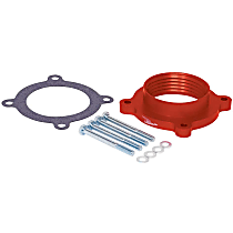 Throttle Body Spacer - Anodized Red, Aluminum, Direct Fit, Sold individually