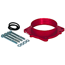 Airaid 350-532 Throttle Body Spacer - Anodized Red, Aluminum, Direct Fit, Sold individually