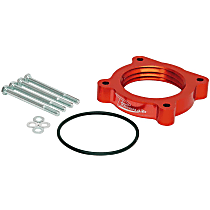 Airaid 520-538 Throttle Body Spacer - Anodized Red, Aluminum, Direct Fit, Sold individually