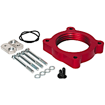 Airaid 520-605 Throttle Body Spacer - Anodized Red, Aluminum, Direct Fit, Sold individually