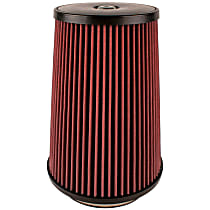 Airaid 700-499 Universal Air Filter - Red, Cotton & Synthetic Blend, Washable, Universal, Sold individually