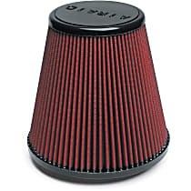 Airaid 701-445 Universal Air Filter - Red, Synthetic, Washable, Universal, Sold individually