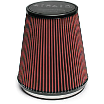 Airaid 701-462 Universal Air Filter - Red, Synthetic, Washable, Universal, Sold individually