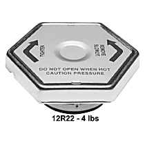 AC Delco Radiator Cap - 12R22 - Hexagon, 4 lbs., Chrome, Steel, Sold individually