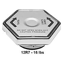 12R7 Radiator Cap - Hexagon, 16 lbs., Polished, Steel, Sold individually