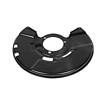 13273626 Brake Dust Shields - Black, Direct Fit Front, Passenger Side, Sold individually