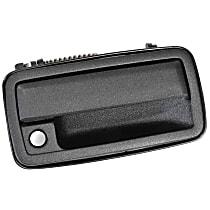 Front, Passenger Side Exterior Door Handle, Black