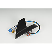 Antenna - Black, Plastic, Fixed Antenna, Direct Fit