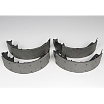 Brake Shoe Set - semi-metallic lining, Direct Fit, 2-Wheel Set Rear