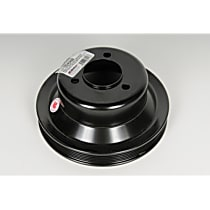 19245468 Crankshaft Pulley - Black, Steel, Direct Fit, Sold individually