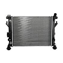 Aluminum Core Plastic Tank Radiator, 19.25 x 14.81 x 1 in. Core Size