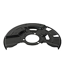 Brake Dust Shields - Black, Steel, Direct Fit, Sold individually Front Right