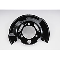 Brake Dust Shields - Black, Direct Fit Front, Driver Side, Sold individually