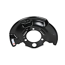 25999907 Brake Dust Shields - Black, Direct Fit Front, Passenger Side, Sold individually