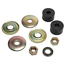 45G25028 Strut Rod Bushing - Black and bronze, Thermoplastic, Direct Fit, 1-arm set