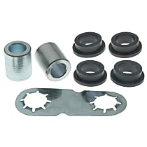 Steering Rack Bushing - Black and chrome, Thermoplastic, Direct Fit, Kit