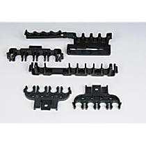 Spark Plug Wire Loom - Black, Direct Fit