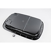 Transmission Pan - Black, Steel, Stock Depth, Direct Fit, Sold individually