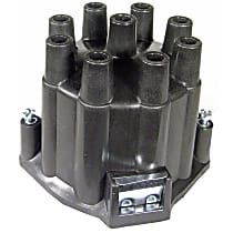 D308R Distributor Cap - Black, Direct Fit, Sold individually