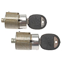 AC Delco D528A Door Lock Cylinder - Black, Direct Fit, Set of 2