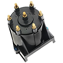 D580A Distributor Cap - Black, Direct Fit, Sold individually