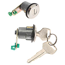 AC Delco D584A Door Lock Cylinder - Chrome, Direct Fit, Set of 2