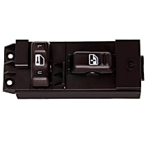 Door Lock Switch - Ebony, Direct Fit, Sold individually