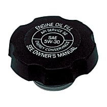 FC136 Oil Filler Cap - Black, Plastic, Direct Fit, Sold individually