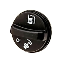 Gas Cap - Black, Non-locking, Direct Fit, Sold individually