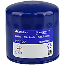 AC Delco PF1127 Oil Filter - Canister, Direct Fit, Sold individually