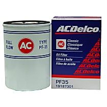 AC Delco PF35 Oil Filter - Canister, Direct Fit, Sold individually